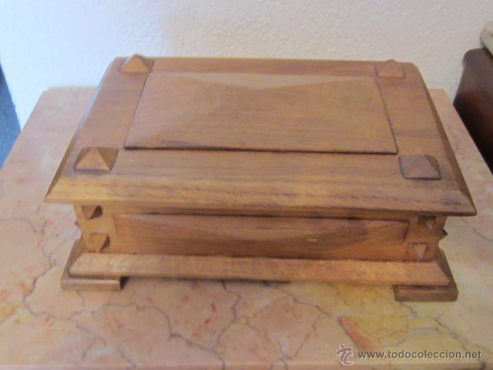 Caja madera de roble comprar cajas antiguas y cajitas met licas en todocoleccion 50870468 - Cajas de madera online ...