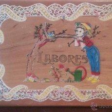 Cajas y cajitas metálicas: CAJA LABORES ANTIGUA DE MADERA. Lote 50940078