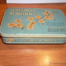 Cajas y cajitas metálicas: CAJA METALICA *ALMENDRAS DE BRIVIESCA* - CASA SANTAOLALLA, BRIVIESCA (BURGOS). Lote 51050609