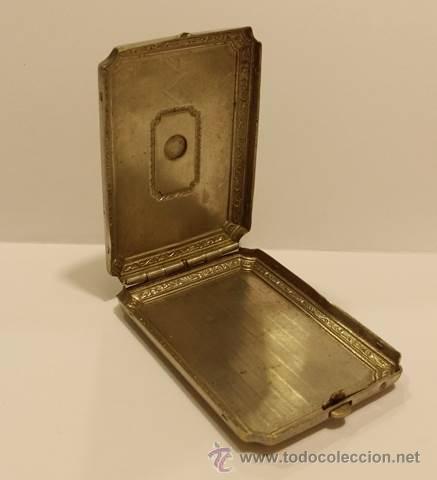Cajas y cajitas metálicas: ANTIGUA CAJITA EN METAL DORADO CON INCRUSTACION EN PORCELANA- ART DECO 1920-30 - Foto 3 - 51053895