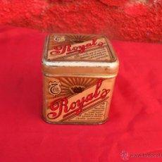 Cajas y cajitas metálicas: CAJA CHAPA TE ROYAL,BUEN ESTADO. Lote 51063618