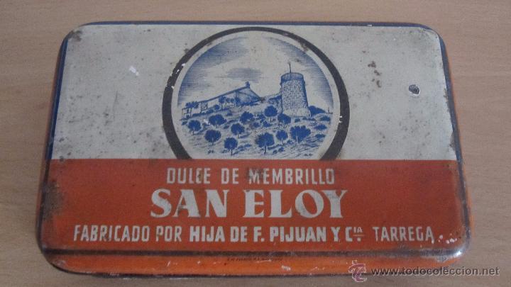 CAJA METÁLICA DE DULCE MENBRILLO (Coleccionismo - Cajas y Cajitas Metálicas)
