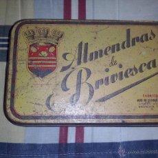 Cajas y cajitas metálicas: LATA ALMENDRAS DE BRIVIESCA. Lote 51221835