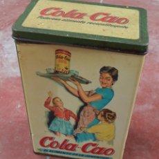 Cajas y cajitas metálicas: CAJA DE COLACAO,ORIGINAL,ALUBIAS,AÑOS 60,LA CLÁSICA CAJA DE LOS AÑOS 60,VER LAS FOTOS. Lote 51280699