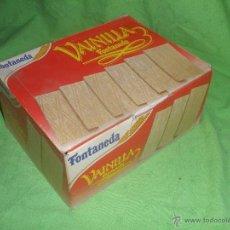 Cajas y cajitas metálicas: CAJA DE CARTON ,GALLETAS VAINILLA-FONTANEDA- AGUILAR DE CAMPOO-PALENCIA-.AÑO 1992.. Lote 51362287