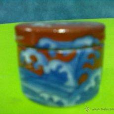 Cajas y cajitas metálicas: CAJITA PORCELANA JAPONESA REDONDA. Lote 51404459