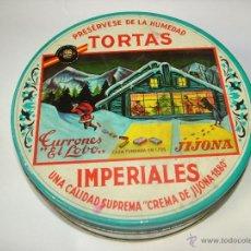 Cajas y cajitas metálicas: TURRONES EL LOBO *** TORTAS IMPERIALES *** JIJONA. Lote 51411077