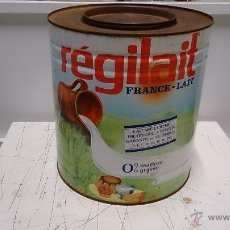 Cajas y cajitas metálicas: BOTE METALICO LECHE FRANCESA REGILAIT. Lote 51444795