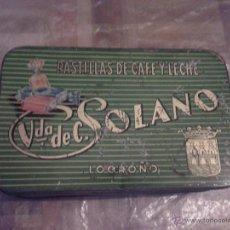 Cajas y cajitas metálicas - CAJA PASTILLAS DE CAFE Y LECHE VIUDA DE C. SOLANO - LOGROÑO - 51696521