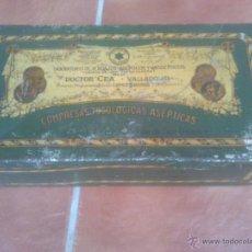 Cajas y cajitas metálicas: CAJA DOCTOR CEA VALLADOLID. Lote 51813486