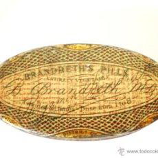 Cajas y cajitas metálicas: CAJA METÁLICA DE FARMACIA *BRANDRETH'S PILLS* 5 X 2,5 X 1,4 CM.. Lote 51850429