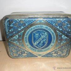 Cajas y cajitas metálicas: CAJA DE MEMBRILLO SAN PASCUAL PUENTE GENIL. Lote 52132379