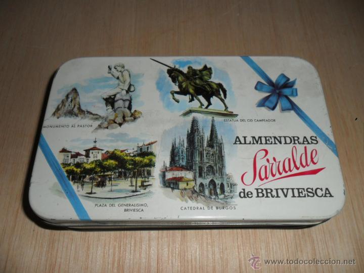 ALMENDRAS SARRALDE DE BRIVIESCA (Coleccionismo - Cajas y Cajitas Metálicas)