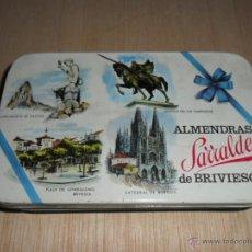 Cajas y cajitas metálicas: ALMENDRAS SARRALDE DE BRIVIESCA. Lote 52151748