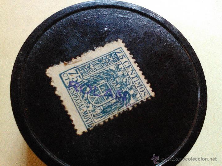 Cajas y cajitas metálicas: ANTIGUA CAJITA CAJA BAQUELITA ROLAN SELLO IMPUESTO - Foto 2 - 52307302
