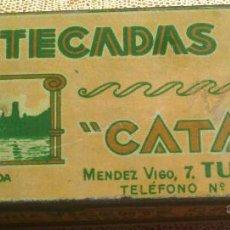 Cajas y cajitas metálicas: CAJA METALICA, MANTECADAS CATALAN, MENDEZ VIGO 2, TUDELA NAVARRA, FABRIC. CIRAGES FRANCAIS SANTANDER. Lote 61458125