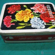 Cajas y cajitas metálicas: CAJA DE MEMBRILLO SAN LORENZO . LORENZO ESTEPA AGUILAR . PUENTE GENIL ( CÓRDOBA) 28X20X10 CM. Lote 52533141