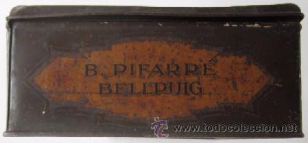 ANTIGUA CAJA DULCES B. PIFARRE DE BELLPUIG (Coleccionismo - Cajas y Cajitas Metálicas)