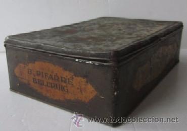Cajas y cajitas metálicas: ANTIGUA CAJA DULCES B. PIFARRE DE BELLPUIG - Foto 5 - 52640196