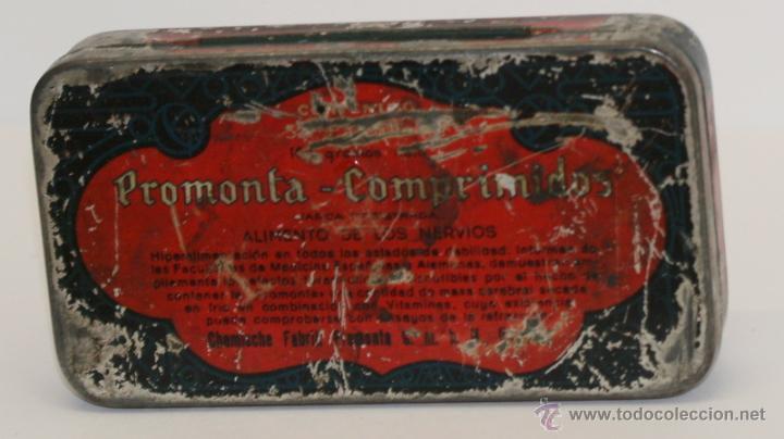 CAJITA PROMONTA COMPRIMIDOS (Coleccionismo - Cajas y Cajitas Metálicas)