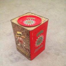 Cajas y cajitas metálicas: LATA GIGANTE CAFES LA ESTRELLA. Lote 52805548