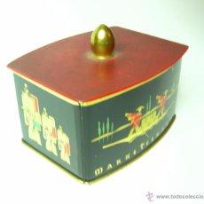 Cajas y cajitas metálicas: CAJA DE TE CON MOTIVOS ORIENTALES 10 X 8 CM. Lote 52826130
