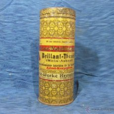 Cajas y cajitas metálicas: BOTE ANTIGUO ALEMAN DE LATA LITOGRAFIADA DE PULIMENTO BRILLANT- THEORIT. Lote 52858867