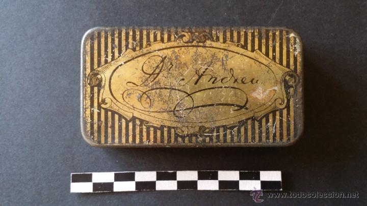 Cajas y cajitas metálicas: Caja de pasta pectoral del Dr. Andreu, para la tos. - Foto 3 - 52886750