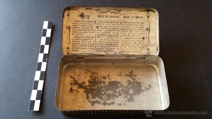 Cajas y cajitas metálicas: Caja de pasta pectoral del Dr. Andreu, para la tos. - Foto 4 - 52886750
