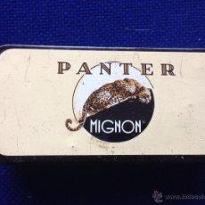 Cajas y cajitas metálicas: CAJA METALICA TABACO CIGARROS PANTER MIGNON. Lote 53101946