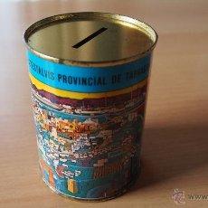 Cajas y cajitas metálicas: 1 HUCHA CAJA AHORROS PROVINCIAL TARRAGONA. CAIXA D'ESTALVIS TARRAGONA. ALCANCIA. HUCHA. GUARDIOLA.. Lote 53152066