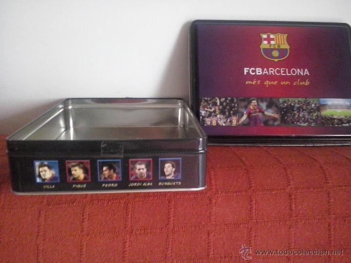 Cajas y cajitas metálicas  caja de lata galletas fc barcelona producto  oficial - Foto 3 abe81709830