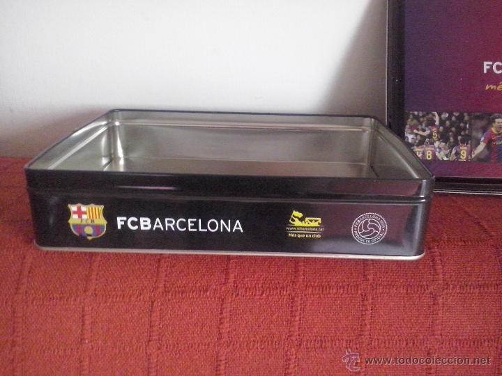 Cajas y cajitas metálicas  caja de lata galletas fc barcelona producto  oficial - Foto 2 cb6f7899f63