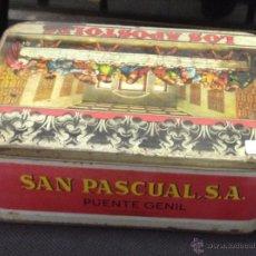 Cajas y cajitas metálicas: LATA DE DULCE DE MEMBRILLO LOS APOSTOLES. SAN PASCUAL. PUENTE GENIL. VER FOTOS. Lote 53214686