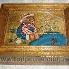 Cajas y cajitas metálicas: CAJA COSTURERO DE MADERA PINTADA A MANO . Lote 53228363