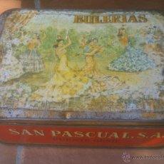 Cajas y cajitas metálicas: ANTIGUA LATA DE DULCE DE MEMBRILLO BULERIAS PUENTE GENIL. Lote 53291627