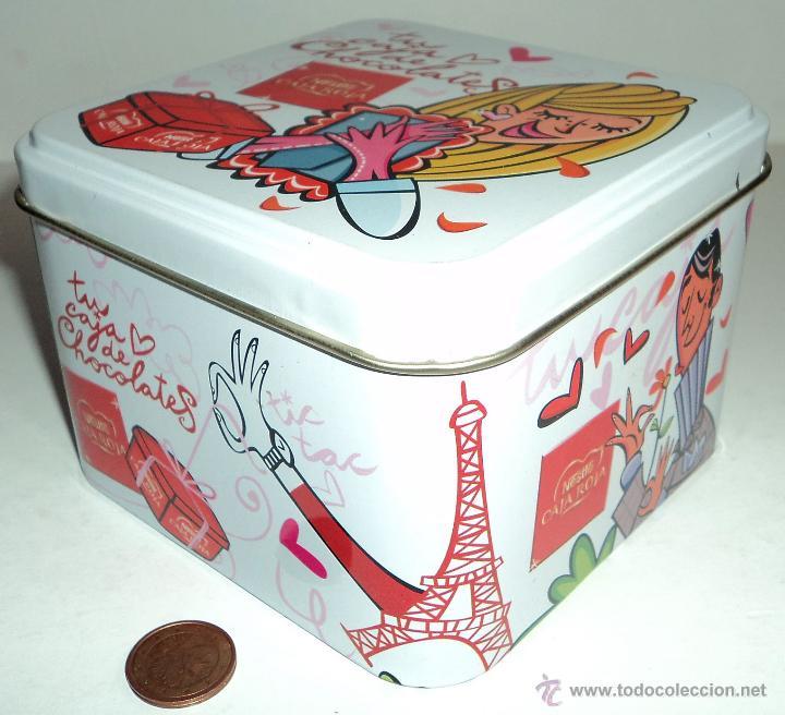 Cajas y cajitas metálicas: Caja metálica Nestlé Caja Roja - Foto 3 - 53303821