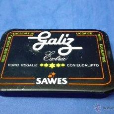 Cajas y cajitas metálicas: CAJA METALICA ANTIGUA, DE REGALIZ DE LA MARCA (SAWES) .. Lote 53477065
