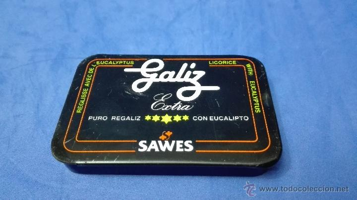 Cajas y cajitas metálicas: CAJA METALICA ANTIGUA, DE REGALIZ DE LA MARCA (SAWES) . - Foto 2 - 53477065