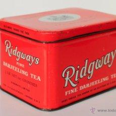 Cajas y cajitas metálicas: CAJA DE LATA INGLESA DE TE RIDGWAYS TEA.. Lote 53528222