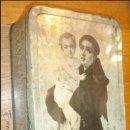 Cajas y cajitas metálicas: SAN ANTONIO FABRICA DE DULCE DE MEMBRILLO PUENTE GENIL CAJA METAL. Lote 34200219