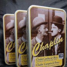 Cajas y cajitas metálicas: CAJAS METALICAS CHARLES CHAPLIN - EDICION ESPECIAL COLECCIONISTA 1996 -. Lote 85529022
