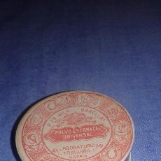 Cajas y cajitas metálicas: CAJA DE POLVO ESTOMACAL UNIVERSAL LABORATORIO TRASVIÑA MADRID AÑOS 20. Lote 54165481