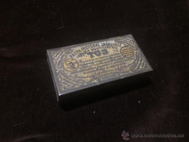 CAJA METÁLICA DE PASTA PECTORAL INFALIBLE PARA LA TOS (Coleccionismo - Cajas y Cajitas Metálicas)