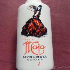 Cajas y cajitas metálicas: TALCO MAJA DE MYRURGIA. CONTIENE PRODUCTO - BOTE DE PLASTICO. Lote 54318641