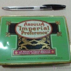 Cajas y cajitas metálicas: ANTIGUA CAJA DE LATA DE TABACO ABDULLA IMPERIAL PREFERENCE MADE IN ENGLAND MIRA FOTO. Lote 54384629