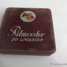 Cajas y cajitas metálicas: RITMEESTER 20 LIVARDE. HOLLAND CAJA VACIA DE TABACO O CIGARRILLOS TIN BOX TOBACCO CIGARETTES. Lote 54408591