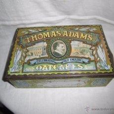 Cajas y cajitas metálicas: ANTIGUA CAJA METALICA INGLESA DE GALLETAS(OATCAKES)THOMAS ADAMS. Lote 182536170