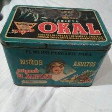 Cajas y cajitas metálicas: LATA ANTIGUA TABLETA OKAL. Lote 54790889