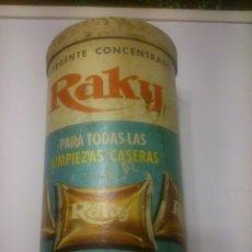 Cajas y cajitas metálicas: * RAKY: ANTIGUO BOTE DE CARTON . 23CM DE ALTURA. Lote 54850513